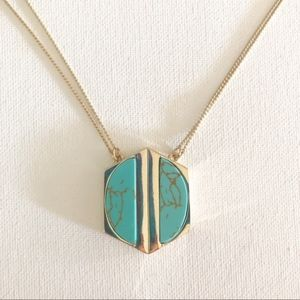 Anthropologie Lydell NYC Turquoise Necklace NEW